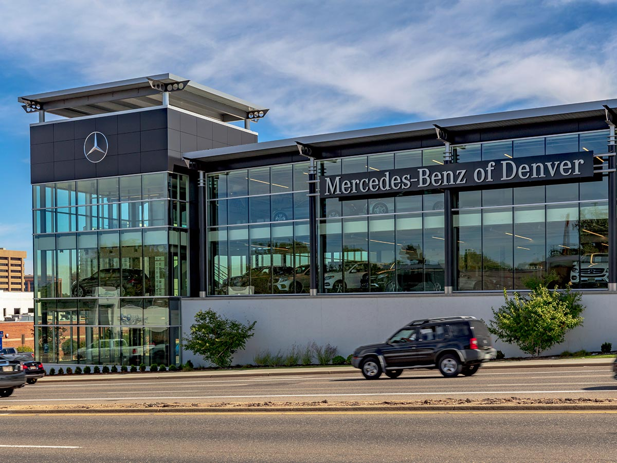Car Dealership Window Coverings Mercedes of Denver